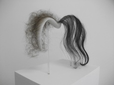 Craniopagus twin headband, Wax Human hair, 2012