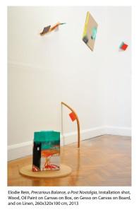 Elodie Rein, Precarious Balance, a Post Nostalgia, Installation shot