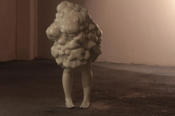 Venous malformation, Haemangioma Series, fibreglass resin, enamal paint, 2012